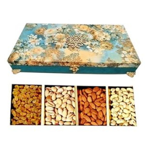 Floral Print Dry Fruit Box