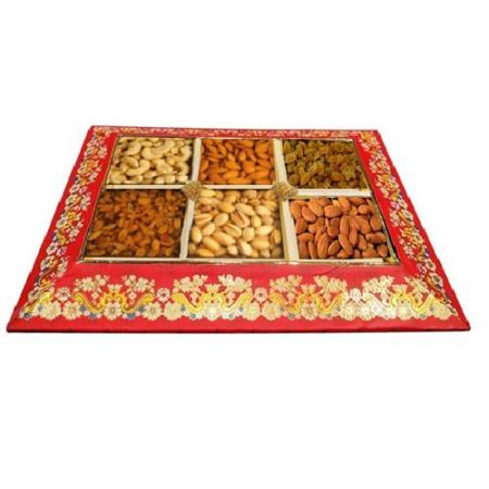 Flower Print Dry Fruit Tray
