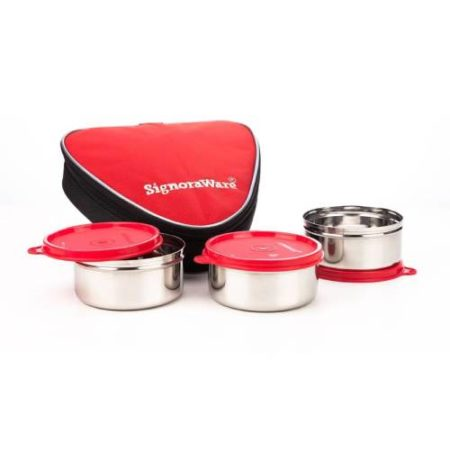 Signoraware Sleek Steel Lunch Box