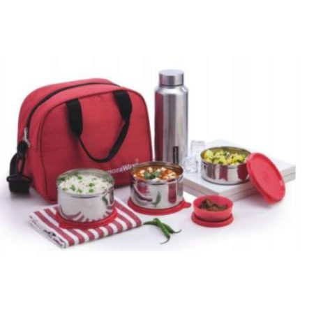Signoraware Sling Steel Lunch Box Bottle