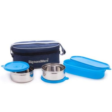 Signoraware Double Decker Steel Lunch Box