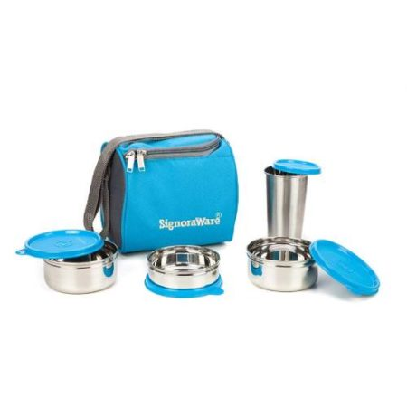 Signoraware Best Steel Lunch Box Steel Tumbler