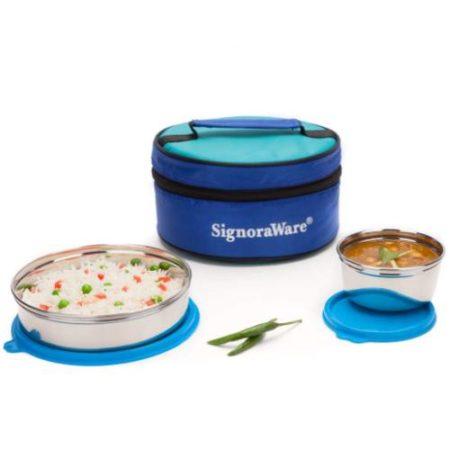 Signoraware Classic Small Steel Lunch Box