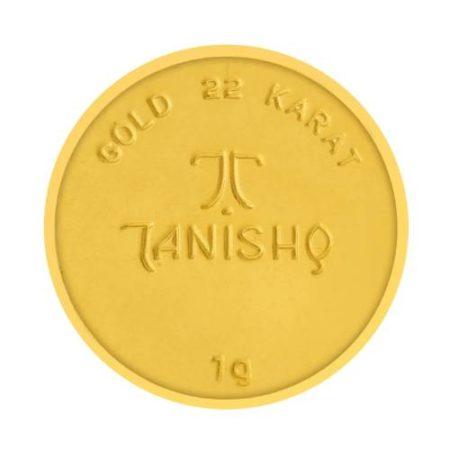 Tanishq 22KT Gold Coin 1 Gram