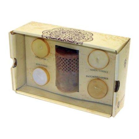 Stone Burner 4 Tea Light Gift Set