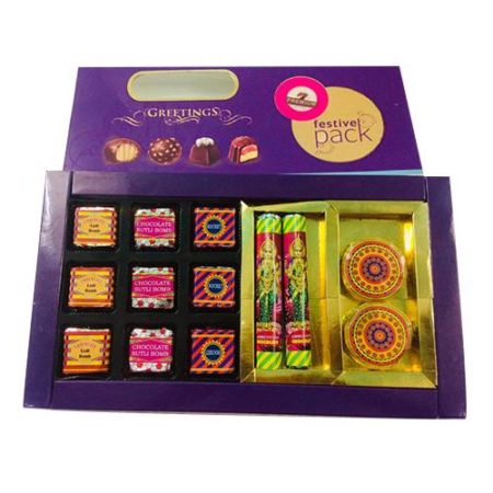 Cracker Shaped Chocolate Gift Box 13 pcs