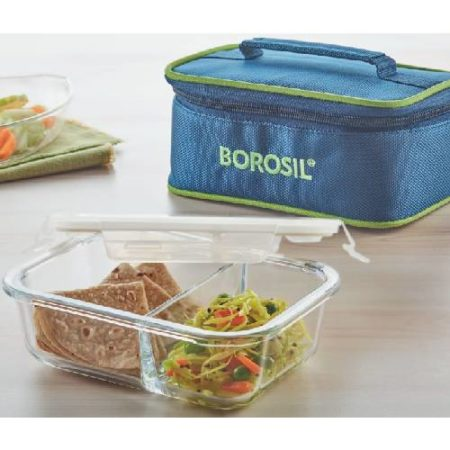 Borosil Split Duo Glass Lunch Box