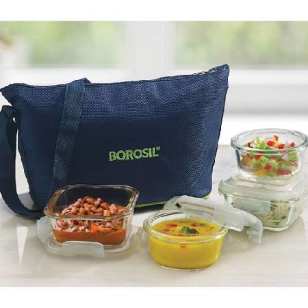 Borosil Daisy Glass Lunch Box