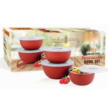 Microwavable Bowl Stainless Steel Set