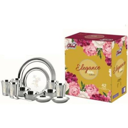 Elegance Laser Art Stainless Steel Dinner Set