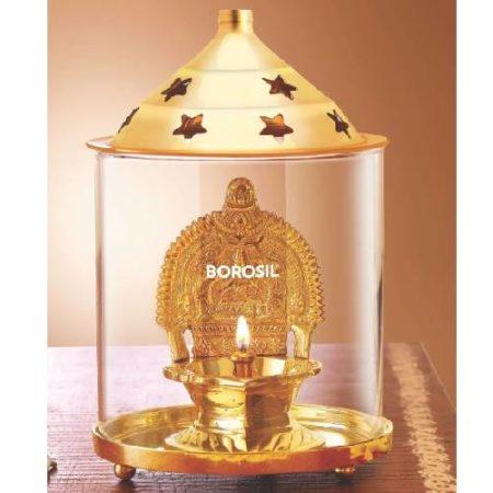 Borosil Dhan Laxmi brass diya
