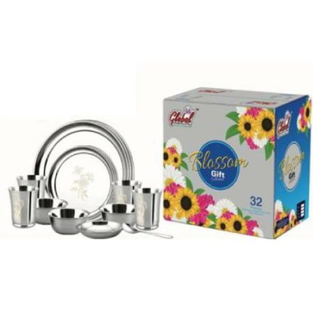 Blossom Stainless Steel Dinner Set