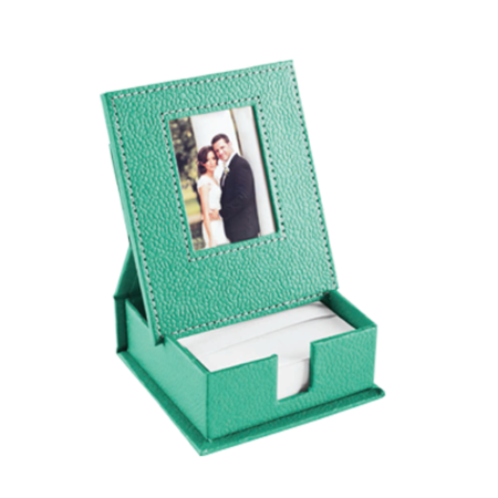 Slip box with photo frame