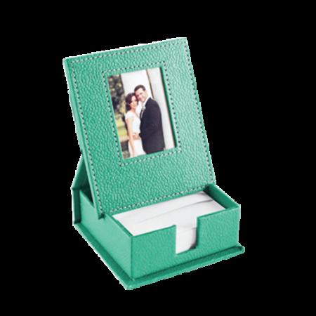 Slip box with photo frame
