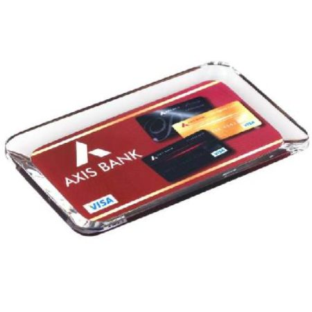 Axis Bank Acrylic Paper Weight