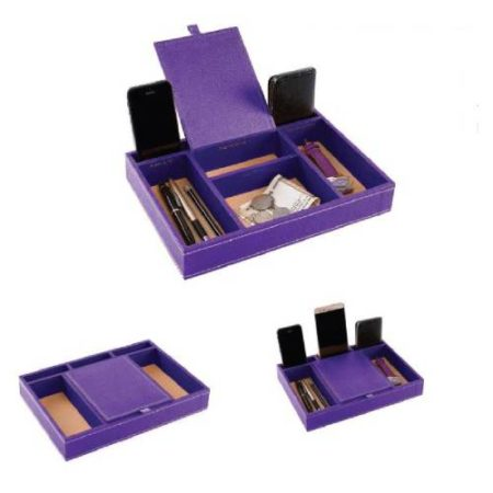 Table Organizer tray leatherette