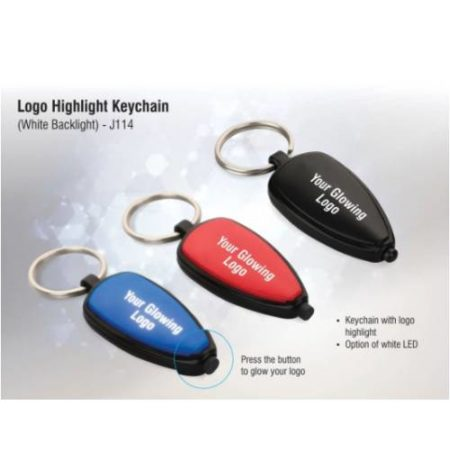 Logo Highlight Keychain ( Multicolor Backlight )