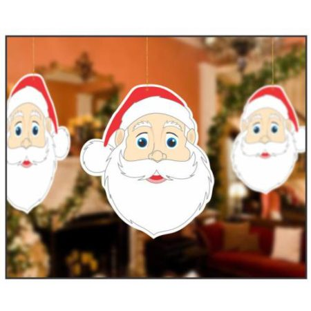 Hanging Santa Face (1 pack of 10 pcs)