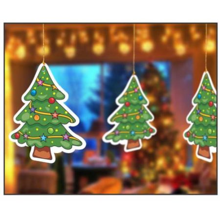 Hanging Chritmas Tree (1 pack of 10 pcs)