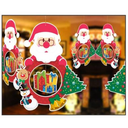 Hanging Santa With Gift (1 pack of 10 pc)