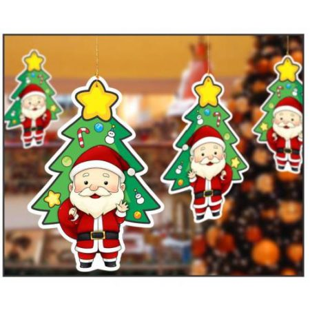 Hanging Christmas Santa Decoration(1 pack of 10 pcs)