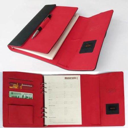 Wow Black Notebook Diary Inbuilt Power Bank