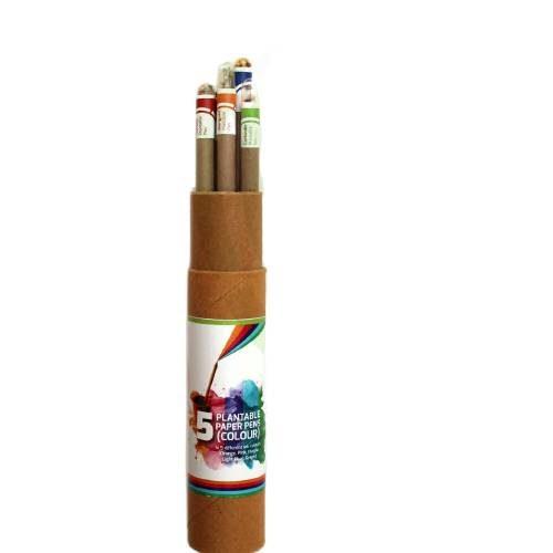 Plantable Coloring Paper Pen Set (5pc) -111