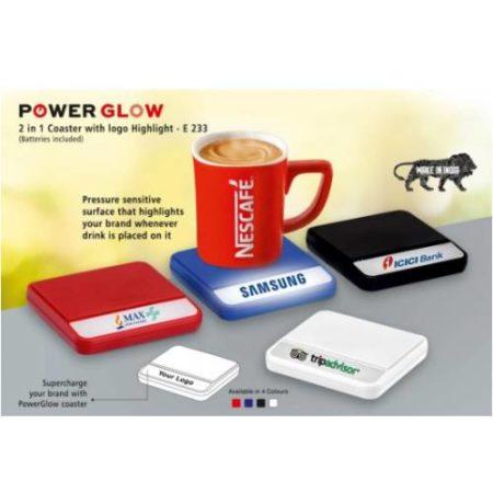 Power Glow Coaster With Logo Highlight