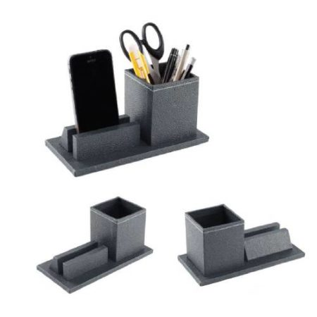 Square pen cup holder and mobile holder