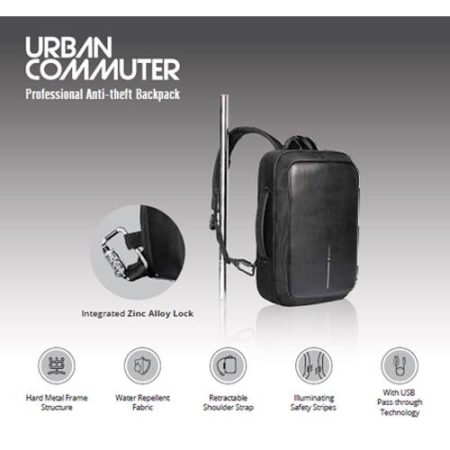 Urban commuter Anti-Theft laptop bag
