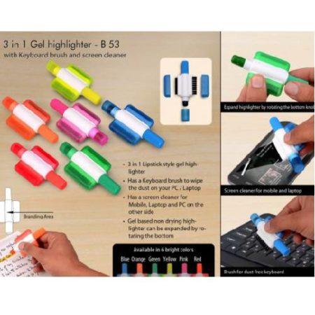 gel highlighter with keyboard brush
