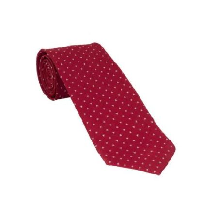 Men Simple Grid Silk Tie